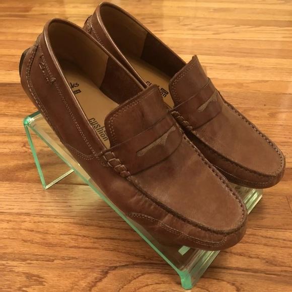 Clarks Ashmont Way Cognac Leather Slip